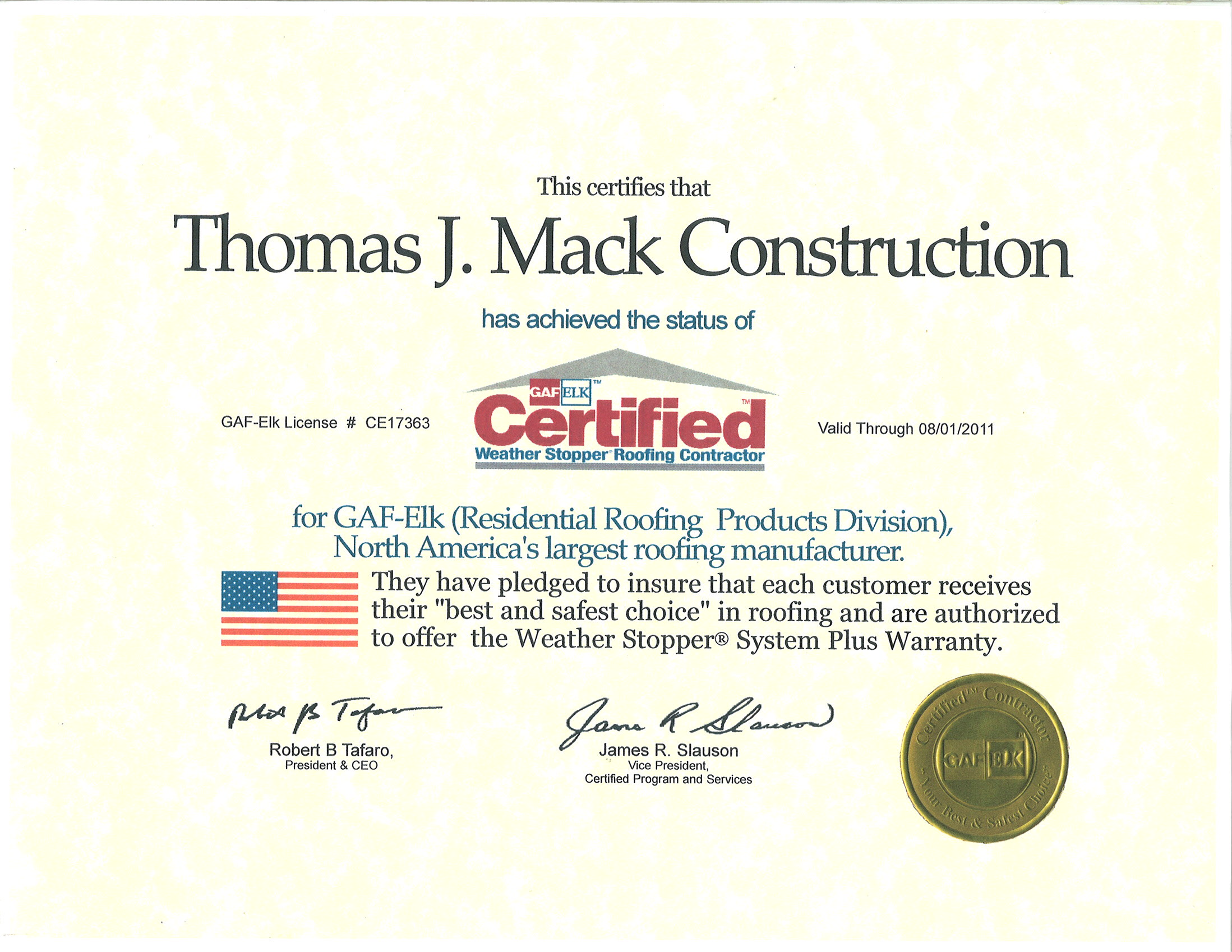 Thomas J Mack Construction Serving Bucks County Since 1981