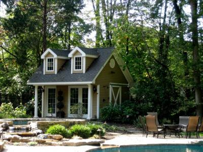 Poolhouse Brings the Fun &  Keeps the Mess Outside